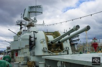 Anti Aircraft Guns on the Destroyer Småland